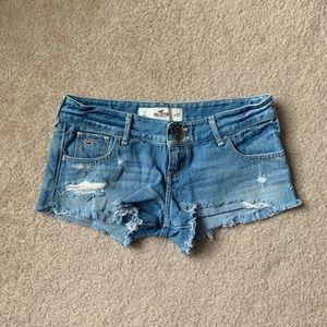 Basic Hollister Distressed Jean Shorts